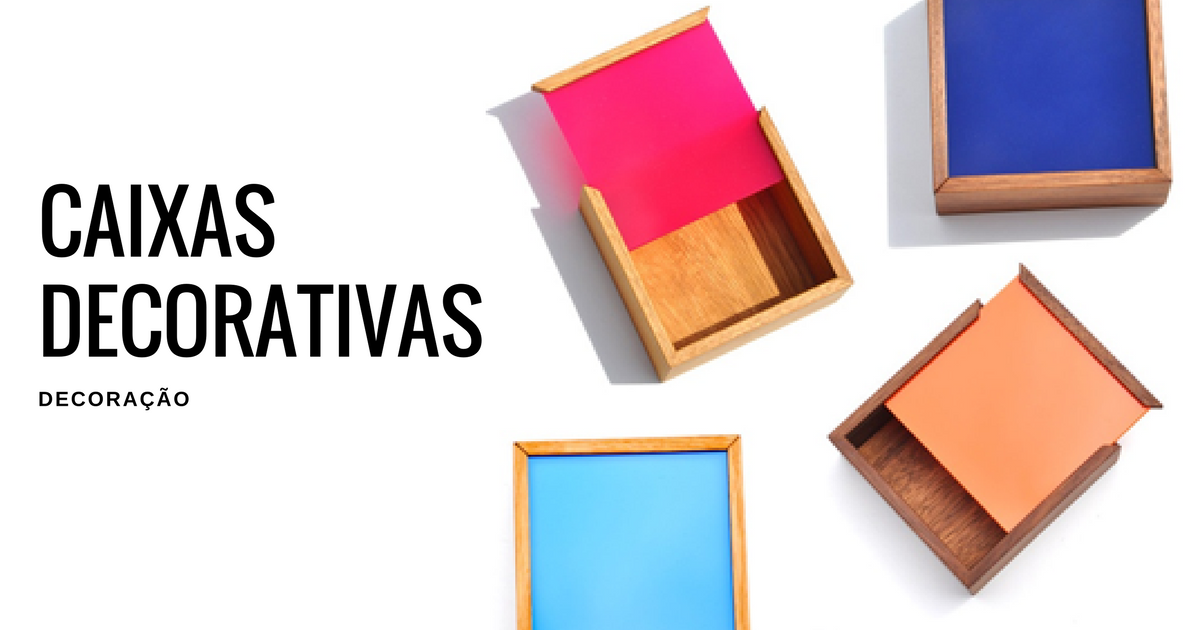 Caixas decorativas